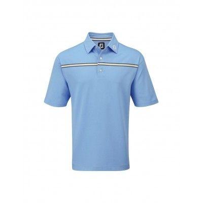 FootJoy Stretch Pique Chest Polo - koszulka golfowa - niebieska