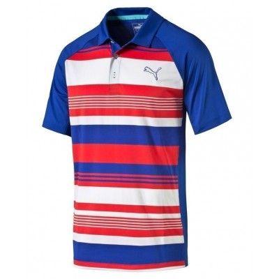 PUMA Golf GT Roadmap - koszulka golfowa - biało-czerwona