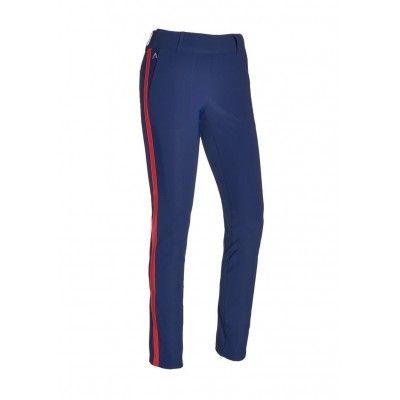 Alberto Lucy SB WR Revolutional Slim Fit - spodnie golfowe - granatowe z lampasem