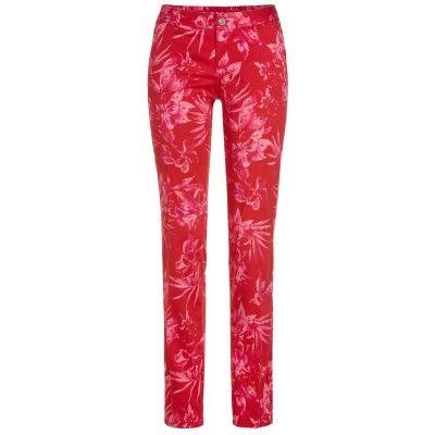 ⛳ Alberto Alva Regular Slim Fit - spodnie golfowe - różowe w kwiaty