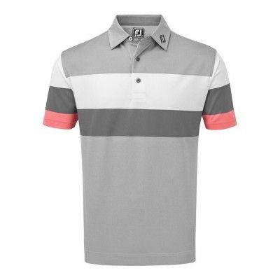 FootJoy Polo ENGINEERED Birdseye Pique - koszulka golfowa - szara
