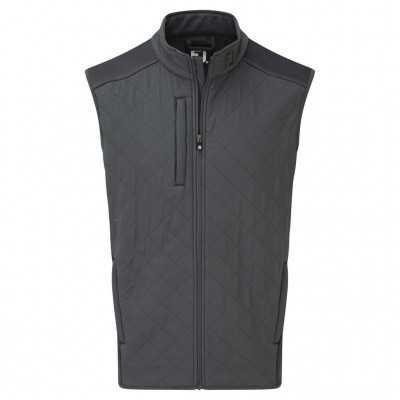 FootJoy Fleece Quilted Vest - kamizelka golfowa - grafitowa