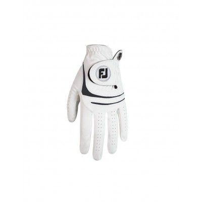 FootJoy WeatherSoft - rękawiczka golfowa - biało-czarna- PRAWA dla leworęcznego golfisty