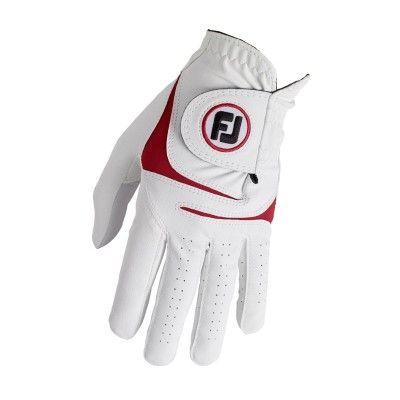 FootJoy WeatherSoft  - rękawiczka golfowa - biało-czerwona