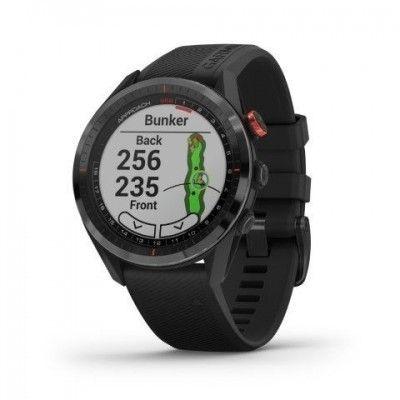 Zegarek Garmin Golf APPROACH S62 - z czarną ceramiczną ramką z czarną opaską