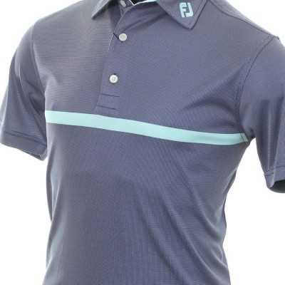 FootJoy Deep Blue with Mint Polo - koszulka golfowa - niebiesko-miętowa