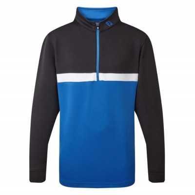 ⛳ FootJoy 1/4 ZIP Colour Blocked CHILLOUT - bluza golfowa - czarno-niebieska