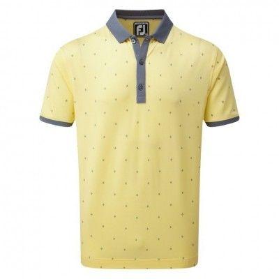 FootJoy Birdseye Argyle Print with Knit Collar Polo -  koszulka golfowa - różne kolory