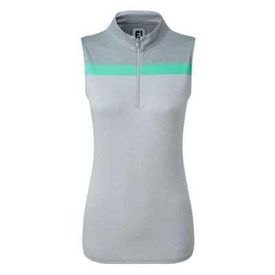 FootJoy-WMNS-Lisle-Engineered-Stripe-Sleeveless-bluzka-golfowa-szara