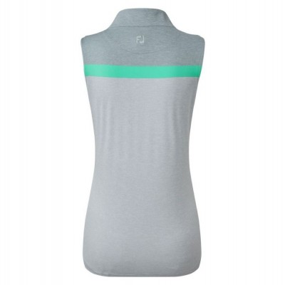 FootJoy-WMNS-Lisle-Engineered-Stripe-Sleeveless-bluzka-golfowa-szara-2