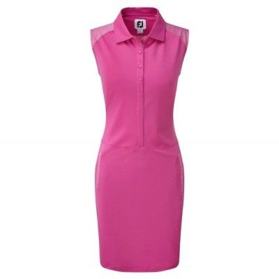 FootJoy-WMNS-Cap-Sleeve-Pique-Laser-Perf.-Overlay-sukienka-golfowa-rozowa