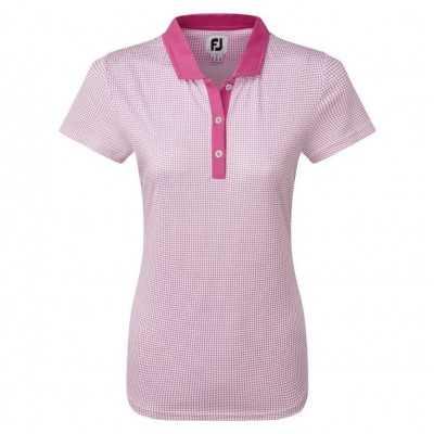 FootJoy WMNS Cap Sleeve Micro Interlock Dot Print - bluzka golfowa - różne kolory