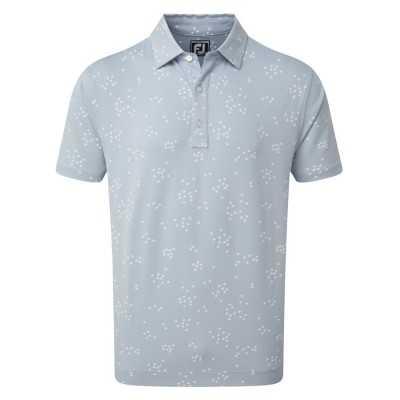 FootJoy Lisle Flock of Birds Print Polo - koszulka golfowa - błękitna