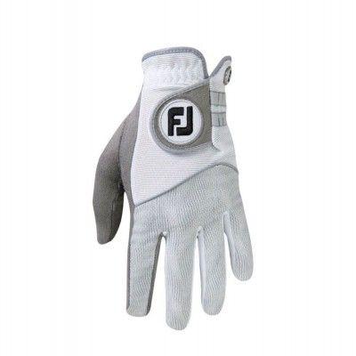 FootJoy RainGrip - rękawiczka golfowa damska- biało-szara