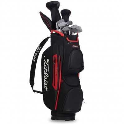 Titleist-Cart-15-Lightweight-torba-golfowa-czarno-czerwona-2