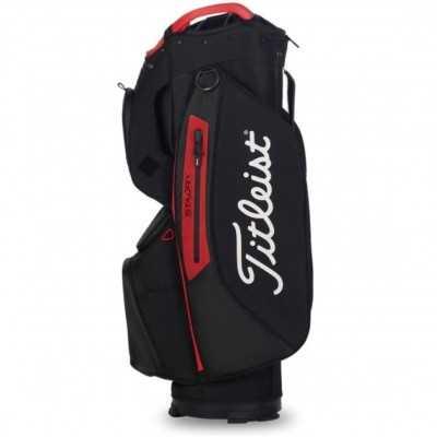 Titleist-Cart-15-Lightweight-torba-golfowa-czarno-czerwona-3
