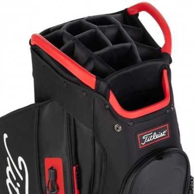 Titleist-Cart-15-Lightweight-torba-golfowa-czarno-czerwona-6