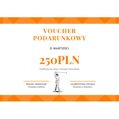 ⛳ GolfHelp Clubfitting 250 - Voucher Podarunkowy