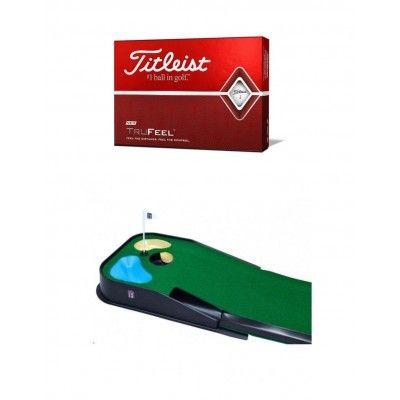 Zestaw golfowy - piłki + mata z dołkiem