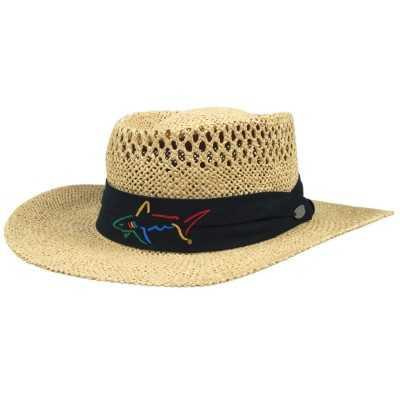 Greg Norman Straw Hat Normal - kapelusz golfowy