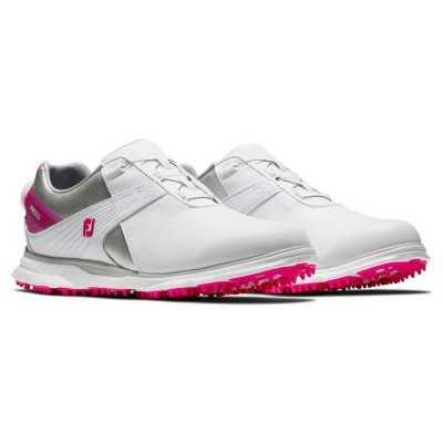 FootJoy Pro SL BOA - buty golfowe - biało-różowe