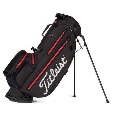 Titleist Players 4 Plus StaDry - torba golfowa - czarno-czerwona