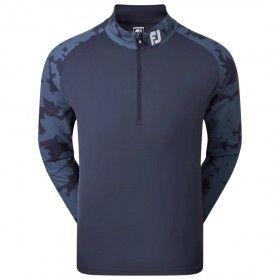 FootJoy Camo Floral Half Zip Midlayer - bluza golfowa - granatowa