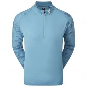 FootJoy Camo Floral Half Zip Midlayer - bluza golfowa - niebieska