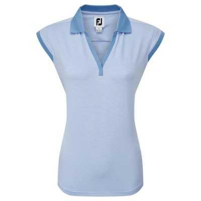 Titleist Women's End on End Striped Lisle - koszulka golfowa - niebieska