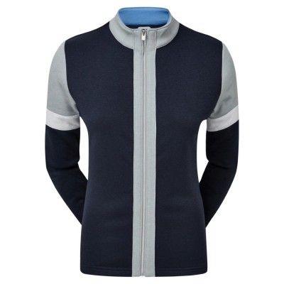 FootJoy Women's Full-Zip Blocked Midlayer - bluza golfowa - granatowa