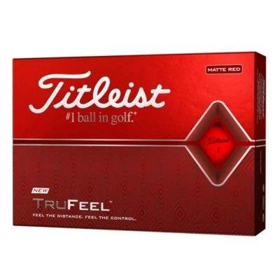 Titleist-trufeel-pilki-golfowe-czerwone