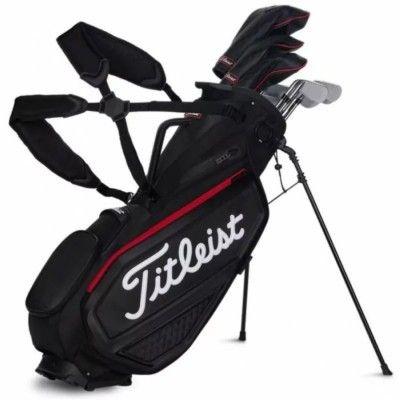 Titleist Jet Black PREMIUM Stand Bag - torba golfowa - czarna