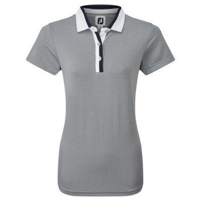 FootJoy Women's Birdseye - koszulka golfowa - granatowa