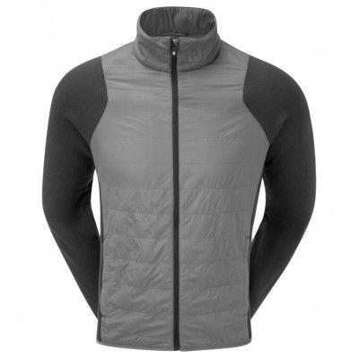 FootJoy Jersey Fleece Quilted Jacket - kurtka golfowa - szaro-czarna