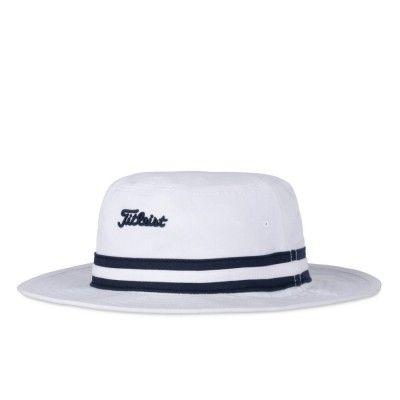 Titleist Cotton Stripe Bucket - kapelusz golfowy - biały
