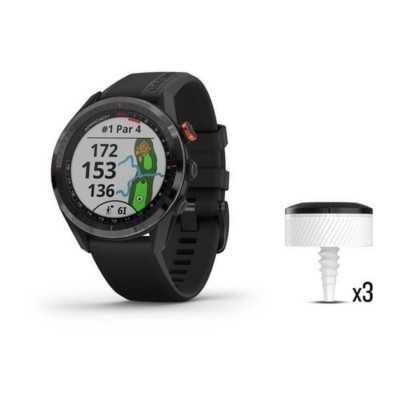 Zegarek Garmin Golf APPROACH S62 Bundle - z czarną ceramiczną ramką z czarną opaską