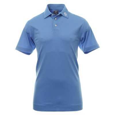 FootJoy Stretch Pique Solid - koszulka golfowa - niebieska