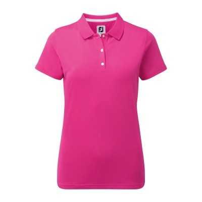 FootJoy Women's Stretch Pique Solid - koszulka golfowa - fuksja