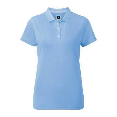 FootJoy Women's Stretch Pique Solid - koszulka golfowa - niebieska