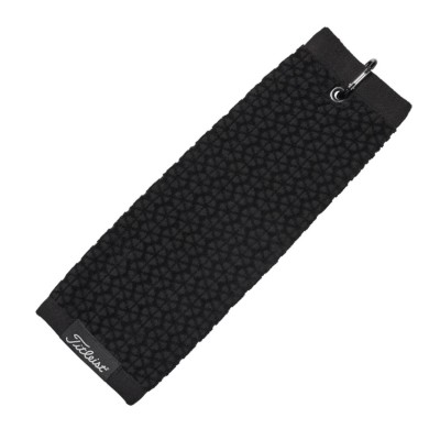 Titleist Trifold Towel - ręcznik golfowy - czarny